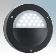 Searchlight 8744BK Round LED Wall Light With Eyelid IP44
