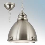 Searchlight 1294SS Satin Silver Ceiling Pendant Light