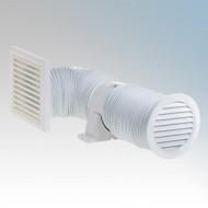 Deta Mains Voltage In-Line Shower Fan Kit 4 Inch/100mm