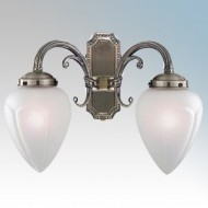 Searchlight Regency Antique Brass Wall Lights