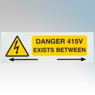 Industrial Signs - DANGER 415V EXISTS BETWEEN PHASES