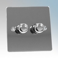 Zano Controls Polished Chrome Plate Mounted LED Dimmers
