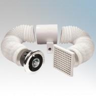 Vent Axia Basics VENT-A-LIGHT In-Line SELV Showerlight Fan Kit